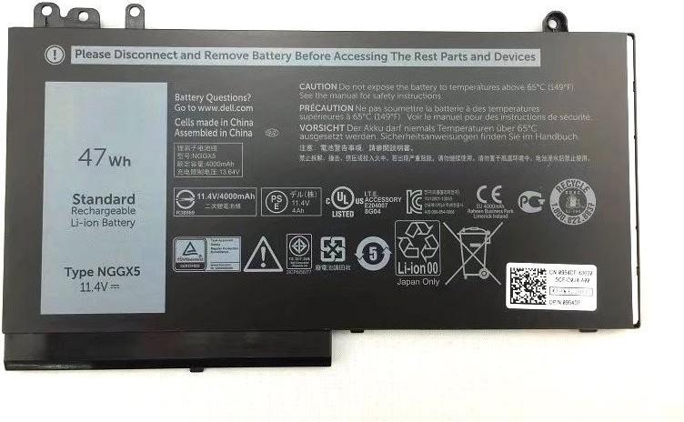 Dell Battery 3-cell 47W/HR LI-ION for Latitude E5270
