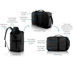 "Dell Pro Hybrid Briefcase Backpack 15"" 460-BDBJ <span>X2RYG</span>, <span>PO1521HB</span>"