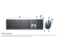 Dell KM7321W Pro Wireless Keyboard and Mouse US/International 580-AJQJ 02HHJ