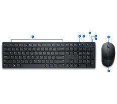 Dell KM5221W bezdrátová klávesnice a myš US/International 580-AJRC KM5221WBKR-INT, 580-AJIS, 0KW2K