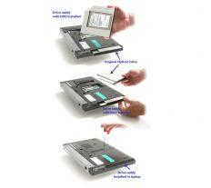 Dell rámeček pro sekundární HDD do Media Bay šachty pro Latitude E4200, E4300, E4310 2BHJ2