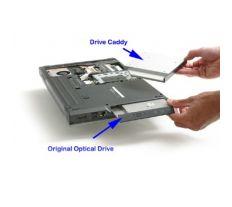 Dell rámeček pro sekundární HDD do Media Bay šachty pro Latitude, Inspiron, Vostro 2BU8Q